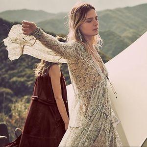 ISO Free People Wild Flower silk dress